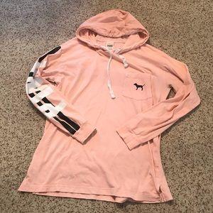 Victoria's Secret pink long sleeve hooded top M